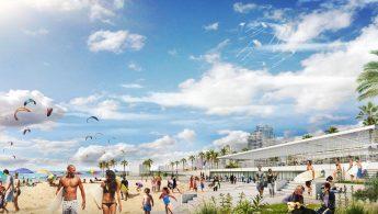 הרחבת רצועת החוף ושיקום חוף הדולפינריום